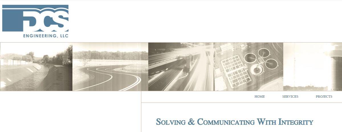 screen capture of DCS Engineering hand-coded website