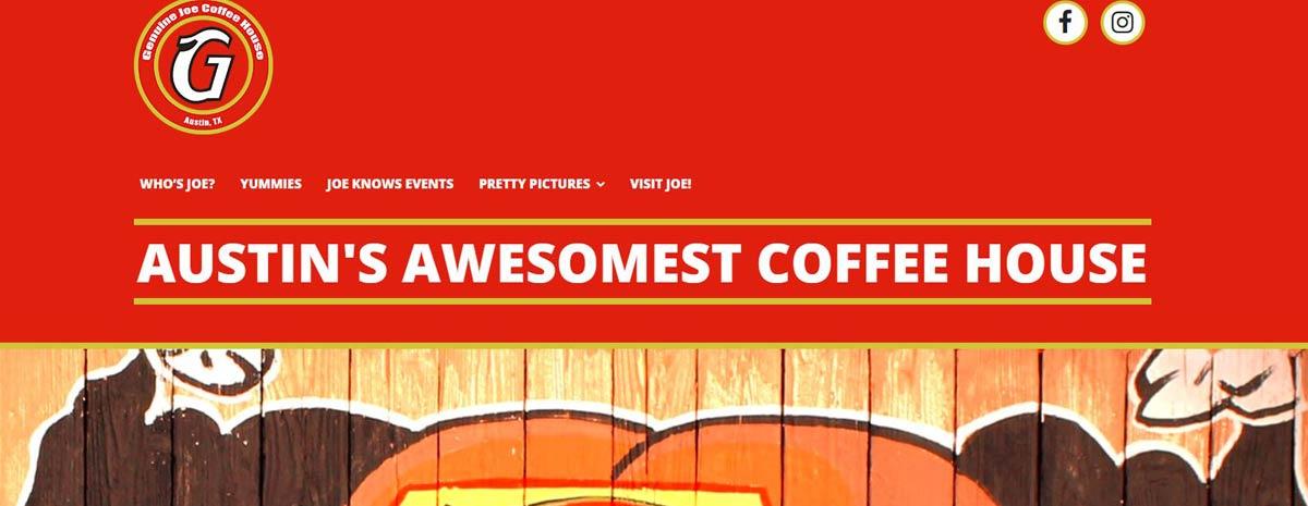 screen capture of Genuine Joe Coffee