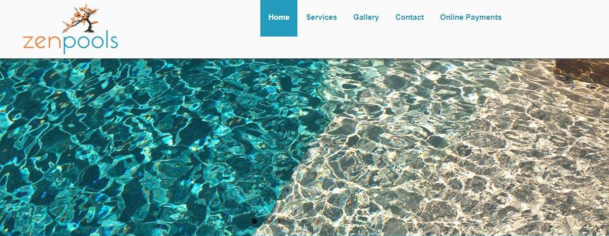 screen capture of Zen Pools of Austin